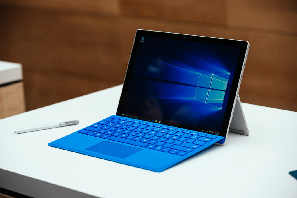 New York City - October 6, 2015 The Microsoft Surface Pro 4 is displayed at the Microsoft Windows 10 Devices Media event in New York City. Credit: Andrew White for WIRED