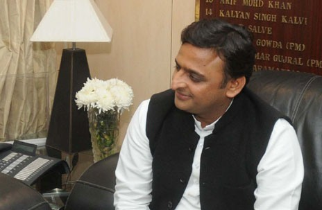The Chief Minister of Uttar Pradesh, Shri Akhilesh Yadav meeting the Minister of State (Independent Charge) for Power, Coal and New and Renewable Energy, Shri Piyush Goyal, in New Delhi on December 03, 2014.